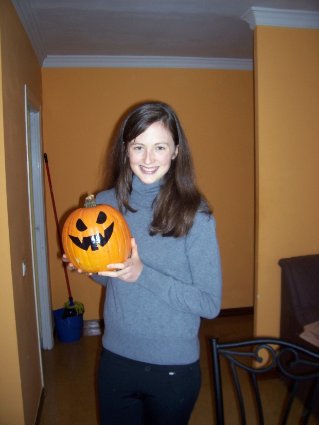Kaley with Pumpkin