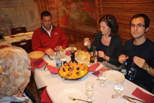 Eating Paella