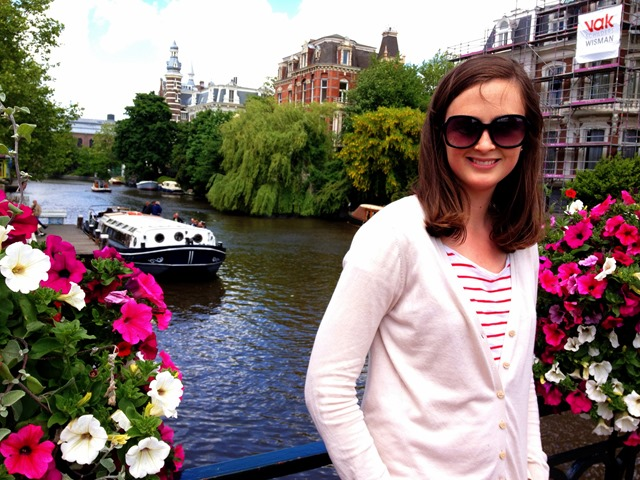 Canals Boat Flowers Amsterdam