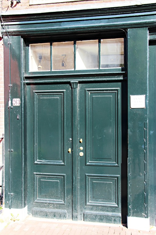 Bon Anne Frank House Door Amsterdam