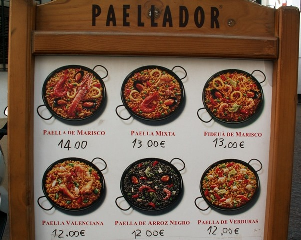 Paella Sign