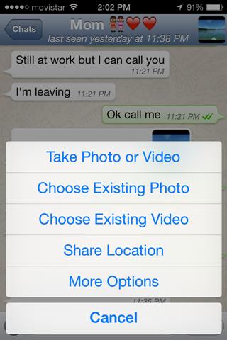 Arrow Screen Whatsapp