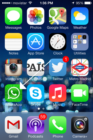Whatsapp on iPhone