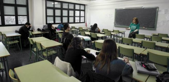 A typical-looking Spanish high-school classroom