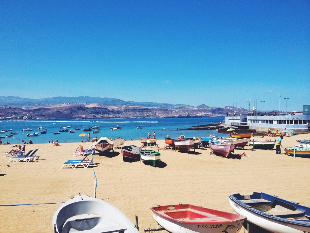 Beach Playa Gran Canaria Spain Las Canteras